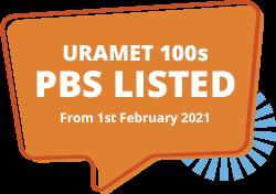 uramet 100s pbs listed